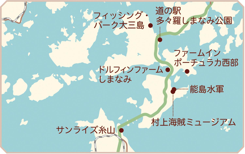 大三島・大島・伯方・岩城島・弓削島